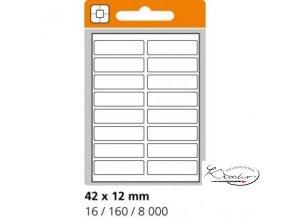 Samolepící etikety 42x12 mm