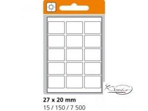 Samolepící etikety 27x20 mm