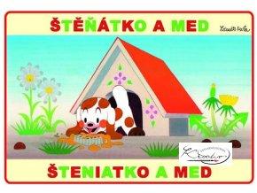 Omalovánky - Štěňátko a med