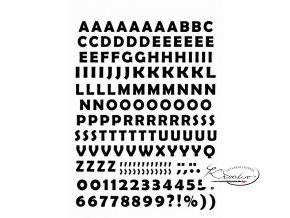 Samolepící abeceda A4