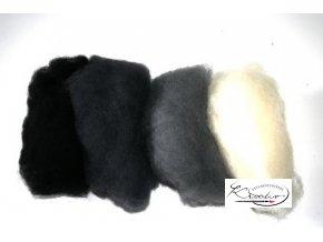 Ovčí vlna merino česaná 20g Mix 4 stínové barvy