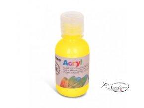 Akrylová barva Primo 125 ml - žlutá