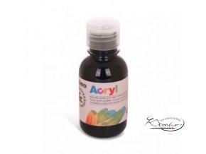 Akrylová barva Primo 125 ml - černá