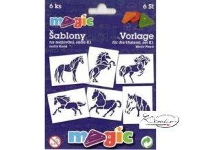 Magic papírové šablony sada K1 - Koně