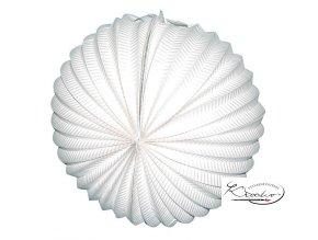 Lampión koule bílý 25cm