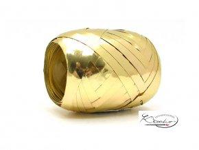 Stuha vázací metal 5mm/20m - zlatá