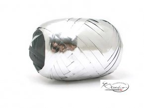 Stuha vázací metal 5mm/20m - stříbrná