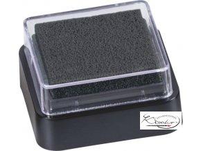 Razítkovací polštářek 3x3 cm - černý