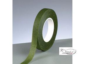 Floristická páska 13mm x 27m - tmavě zelená