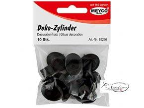 Dekorační cylindr - černý