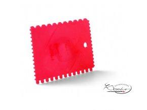 Plastová ozubená špachtle 9 x 13 cm