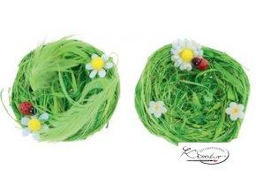 Hnízda z lýka zelená 7cm / 2 ks