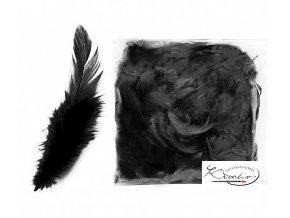 Peří dekorační 10g - Černé