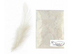 Peří dekorační 10g - Bílé