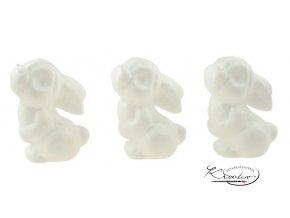 Dílky z polystyrenu zajíčci 7 cm / 3 ks