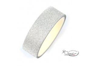Glitrová stříbrná lepicí páska