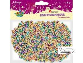 Barevné polystyrénové kuličky 8 g