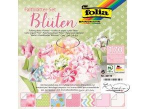 Origami papír Sada na výrobu květin - 170 listů