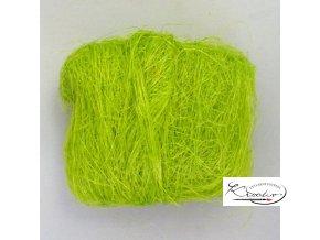 Sisalové vlákno 25g - jarní zeleň
