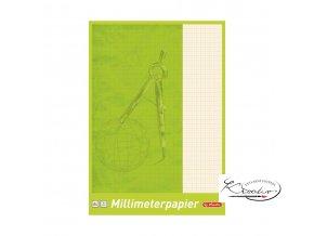 Milimetrový papír v bloku A4 / 25 listů / 80 g / m2