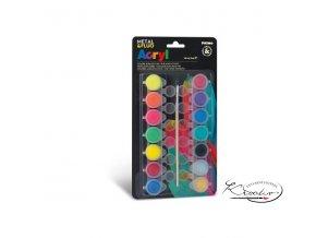 Akrylové barvy Primo Fluo +Metal 14 x 4,5ml