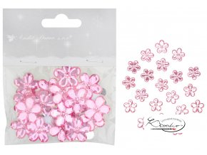 Kytičky samolepící růžové 2 cm / 20 ks