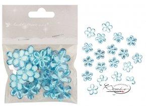 Kytičky samolepící modré 2 cm / 20 ks