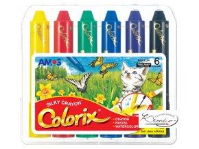 Colorix krajony -  rozmývatelné barvy / 6 ks