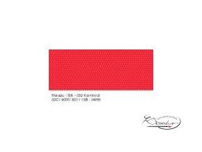 Silk Marabu č. 032 Carmine Red barva na hedvábí 50ml