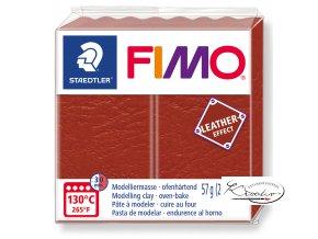 Fimo Effect Leather - 749 rezavá