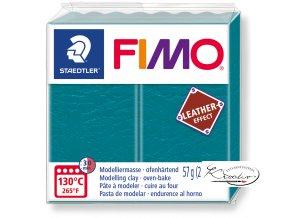 Fimo Effect Leather - 369 zelená laguna