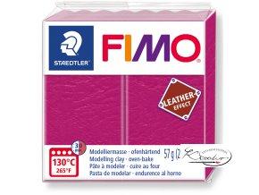 Fimo Effect Leather - 229 malinová