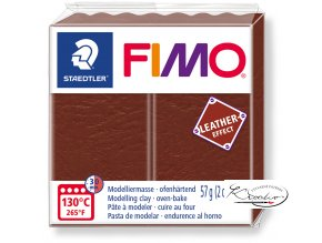 Fimo Effect Leather - 779 oříšková