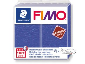 Fimo Effect Leather - 309 modrá indigo