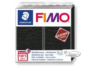Fimo Effect Leather - 909 černá