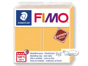 Fimo Effect Leather - 109 šafránová žlutá
