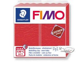 Fimo Effect Leather - 249 vodní meloun