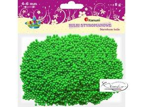 Polystyrénové kuličky - zelené