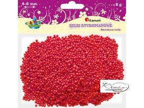 Polystyrénové kuličky - červené