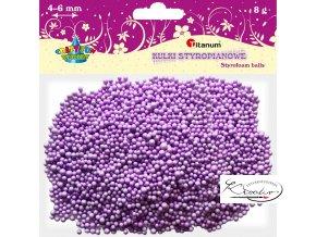 Polystyrénové kuličky - fialové