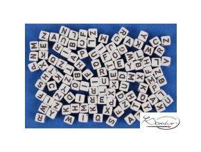 Korálky navlékací ABC - bílé 30 g