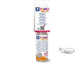 FIMO LIQUID Deco gel 50 ml - stříbrný