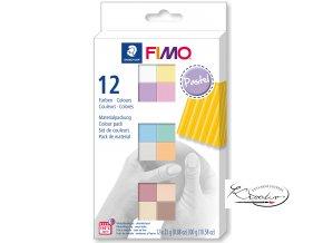 Fimo Soft sada - 12 x 25 g Pastel