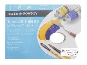 Paleta papírová Daler Rowney A4 / 40 ks