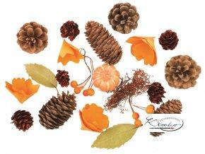 Dekorační komponenty na tvoření - podzim