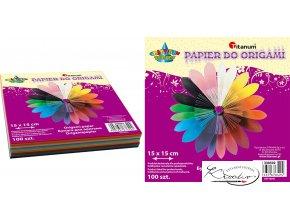 Barevné papíry na origami 15x15 cm
