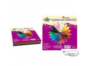 Barevné papíry na origami 20 x 20 cm