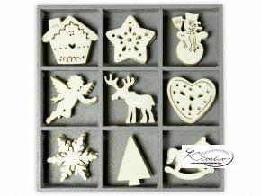 Dekorační sada dřevěná - Vánoční motivy II.