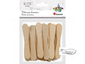 Dřevěné špachtle - přírodní - 35 ks