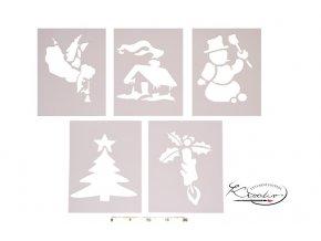 Šablona papírová A4 - Vánoce